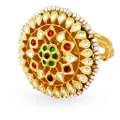 Padmavati by Tanishq 22KT Yellow Gold Finger Ring