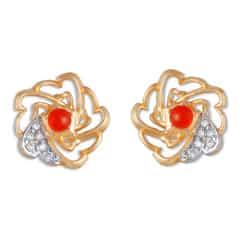 Tanishq Mia Social 14 KT Yellow Gold Diamond Stud Earring For Women-552811SWUAAA52