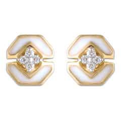 Tanishq Mia Social 14 KT Yellow Gold Diamond Stud Earring For Women-552811SXMAAA22
