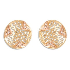 Tanishq Mia Social 14 KT Yellow & Rose Gold Diamond Stud Earring For Women-552811SYMAAA22