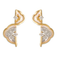 Tanishq Mia Social 14 KT Yellow Gold Diamond Stud Earring For Women-552811SYSAAA22
