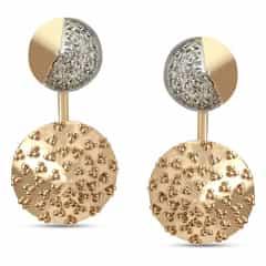 Mia by Tanishq Friends of Bride 14KT Yellow Gold Diamond Hoop Earrings