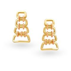 Mia Autumn by Tanishq 14KT Yellow & Rose Gold Drop Earrings