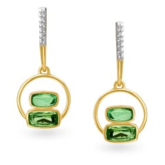 Mia by Tanishq 14KT Yellow Gold Diamond Drop Earrings