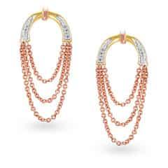 Mia by Tanishq 14KT Rose Gold Diamond Drop Earrings
