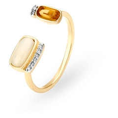 Mia by Tanishq 14KT Yellow Gold Diamond Open Finger Ring