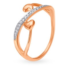 V-Day Collection from Mia by Tanishq 14KT Rose Gold Diamond Finger Ring