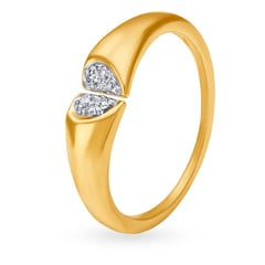 V-Day Collection from Mia by Tanishq 14KT Yellow Gold Diamond Finger Ring