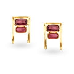 Mia by Tanishq 14KT Yellow Gold Stud Earrings