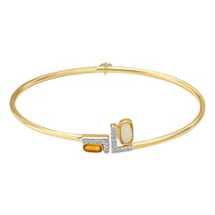 Mia by Tanishq 14KT Yellow Gold Diamond Bangle