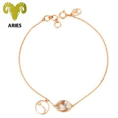 Mia by Tanishq 14KT Aries Birthstone Rose Gold Bracelet