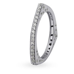 Mia Glam by Tanishq 14KT White Gold Cubic Zirconia Finger Ring