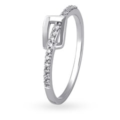 Mia by Tanishq 14KT White Gold Diamond Finger Ring