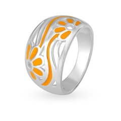Mia by Tanishq Silver Ring with Enamel Coating