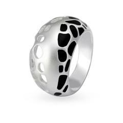 Mia by Tanishq Silver Finger Ring with Enamel Coating