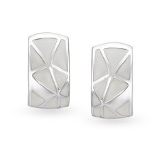 Mia by Tanishq Silver Ear Claps with Enamel Coating