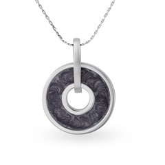 Mia by Tanishq Silver Pendant with Enamel Coating