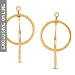 Tanishq Fine Line 18KT Yellow Gold Drop Earrings