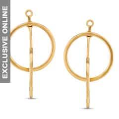 Tanishq Fine Line 18KT Yellow Gold Drop Earrings