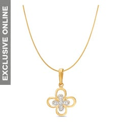 Tanishq 18KT Gold Diamond Pendant