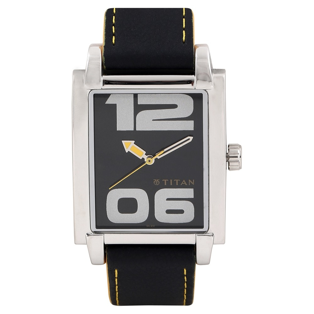 silver for aged steel signed omega swiss sale triple second around watch black dial men rectangular time with s watches vintage markers