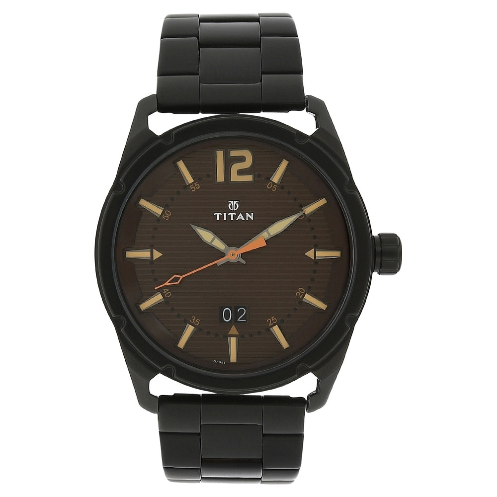 Titan 1584SL04 Analog Brown watch price and reviews in ...