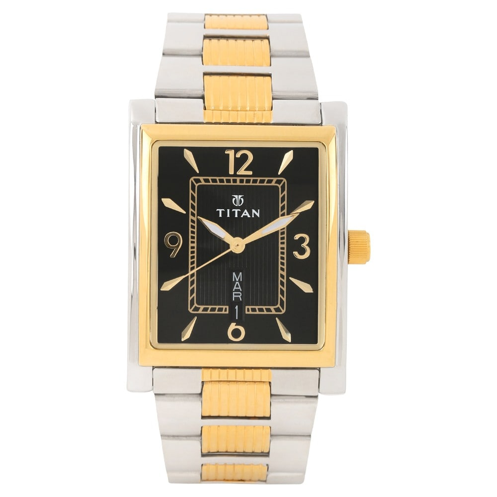 rectangular black strap ga watch by watches valentina bruno magli