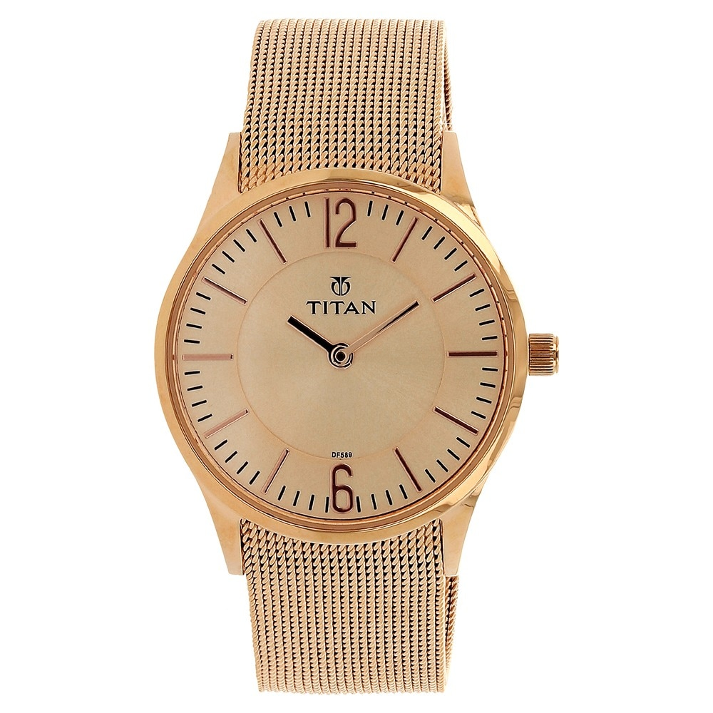 titan raga gold plated ladies watches