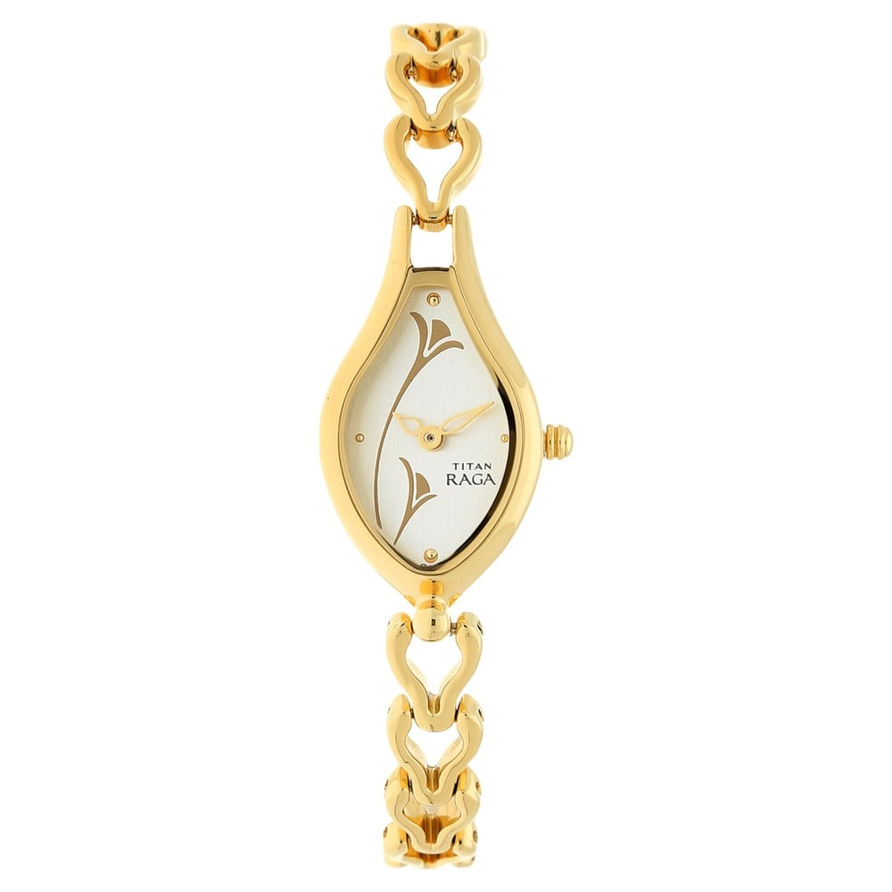 watch women teardrop gold online product price titan india at for chain shaped watches buy analog raga best golden