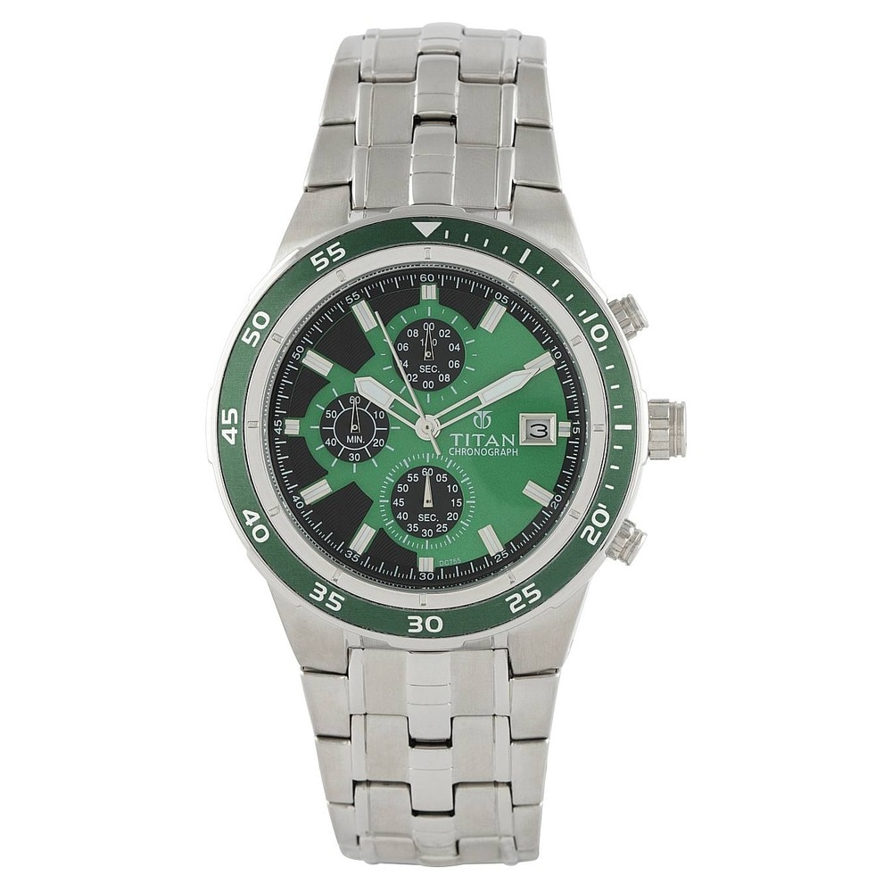 buy titan silver and green watch for men at best price online buy titan silver and green watch for men at best price online titan