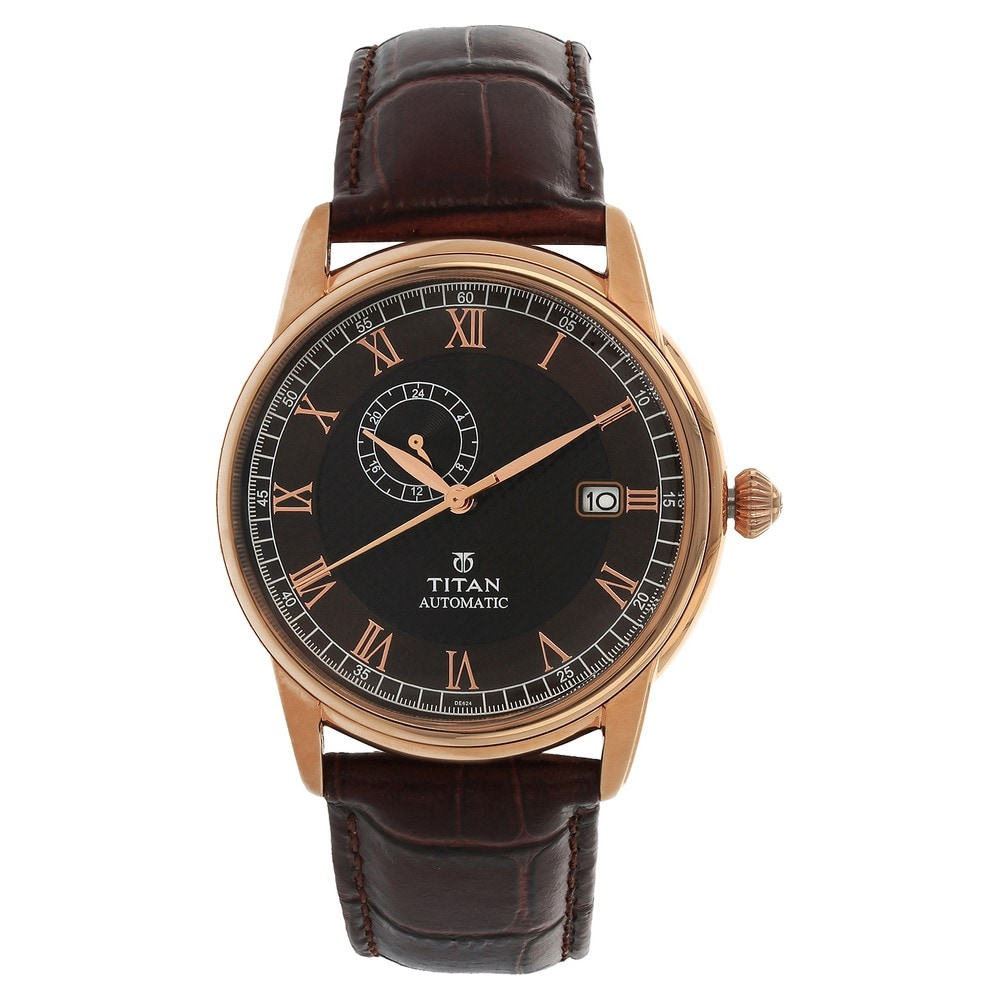 Titan Analog Brown Dial Men's Watch- NK1584SL04 - Titan ...