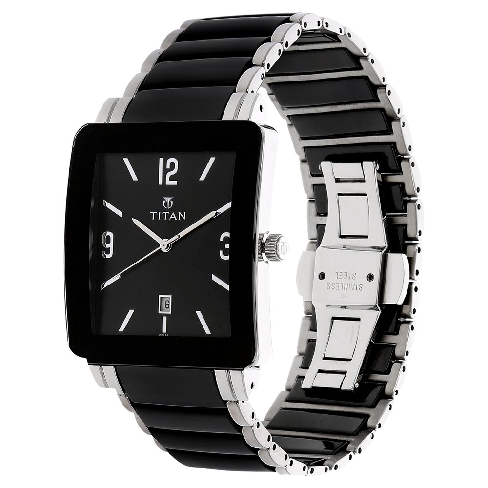 ceramic en dial hands men buy luminous roman s chronograph armani bracelet emporio black swiss for watches