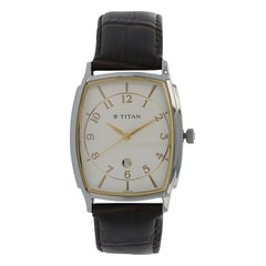 Titan Classique White Dial Analog Watch For Men-1486SL01