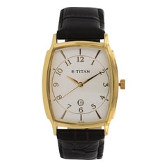 Titan Classique White Dial Analog Watch For Men-1486YL05