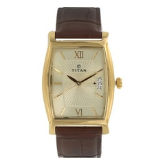 Titan Classique Champagne Dial Analog Watch For Men-1530YL04
