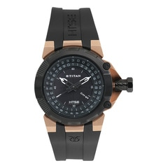 Titan HTSE Black Dial Analog Watch for Men-1539KP02