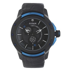 Titan HTSE Black Dial Analog Watch for Men-1540KL04