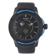 Titan HTSE Black Dial Analog Watch for Men-1540KL04
