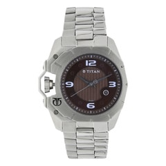 Titan Purple Analog with Date Watch For Men-1605SM02