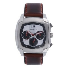 Titan Purple Chronograph Watch For Men-1609SL01