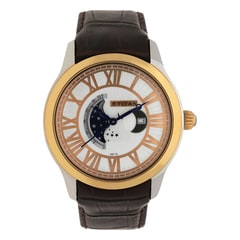 Titan Celestial Moon Phase White Dial Watch For Men-1663KL01