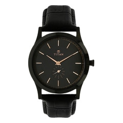 Titan Retro Black Dial Analog Watch for Men-1674NL01