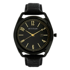 Titan Retro Black Dial Analog Watch for Men-1675NL01