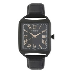 Titan Retro Black Dial Analog Watch for Men-1676NL01