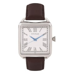 Titan Retro Silver Dial Analog Watch for Men-1676SL01