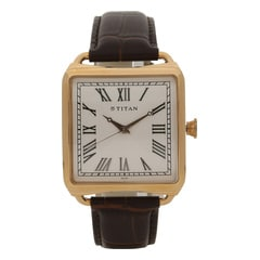 Titan Retro Rose Gold Dial Analog Watch for Men-1676WL01