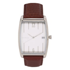 Titan Retro Silver Dial Analog Watch for Men-1677SL01