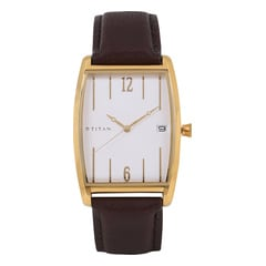Titan Retro White Dial Analog Watch for Men-1677YL01