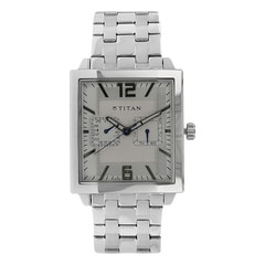 Titan Silver Dial Analog Watch For Men-1678SM01
