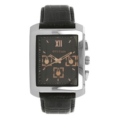 Titan Black Dial Analog Watch For Men-1679SL02